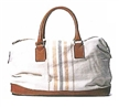 Lady Leather Canvas Travel Bag Big Duffle Bag Tote Bag