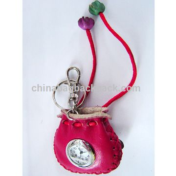 Key Chain with Wallet and Watch