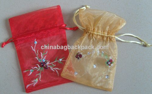 Organza Bag with Embroidery