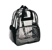 Clear PVC School Bag With Black Piping