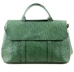 In pelle verde Tote Bag