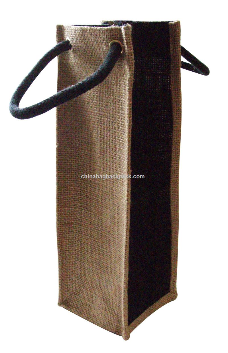 Promotional jute wine bag bottle bags suppliers china