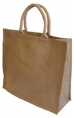 Medium Sac en jute de luxe