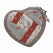 Cotton Coin Purse Wallet for Girl, Women, Children with Heart, Fashionable Design for Coins