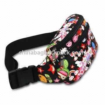 Waist Bag, Made of 210D Material, Adjustable Strap and Two Main Compartments with Zipper