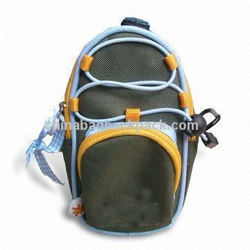 Waist Bag with Compass on the Top and Elastic String on the Front