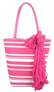 2014 fashion cheap polyeste chevron backpack striped natural straw canvas beach bag