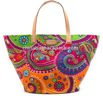 Best Seller fashion chevron tote bag/Canvas Beach Bag