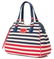 2015 Summer Fashion Lady Striped Canvas Handbag / Hawaii Beach Bag