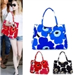 Vintage canvas Beach bag,fashion original four-color flower women beach bags