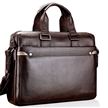 Sidiou Group Fashion laptop computer bag Tablet PC package Men's business leather handbag Single shoulder briefcase